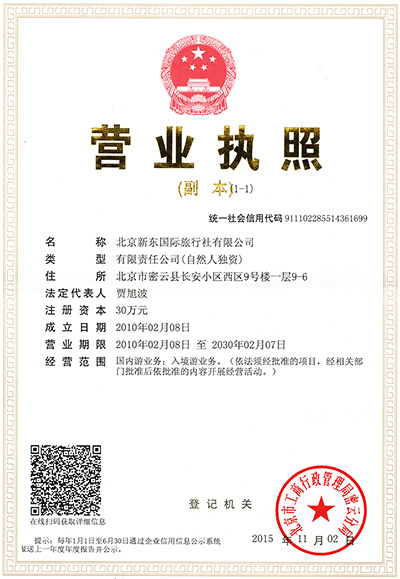 Beijingservice company License