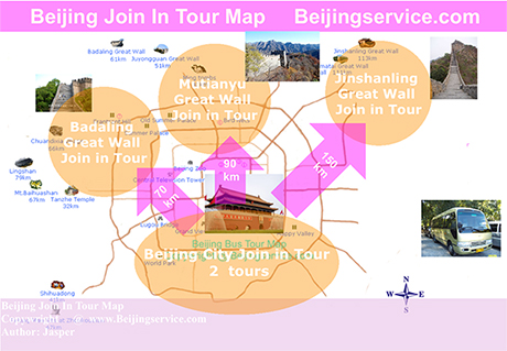 Beijing join in tour map
