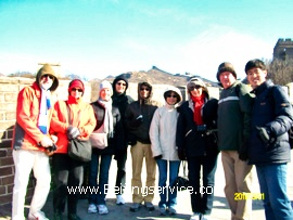 Travelers on Badaling Great Wall