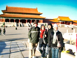 Travelers in Forbidden City