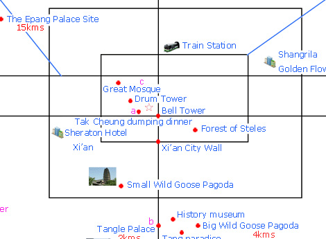 Map of Xian Tours